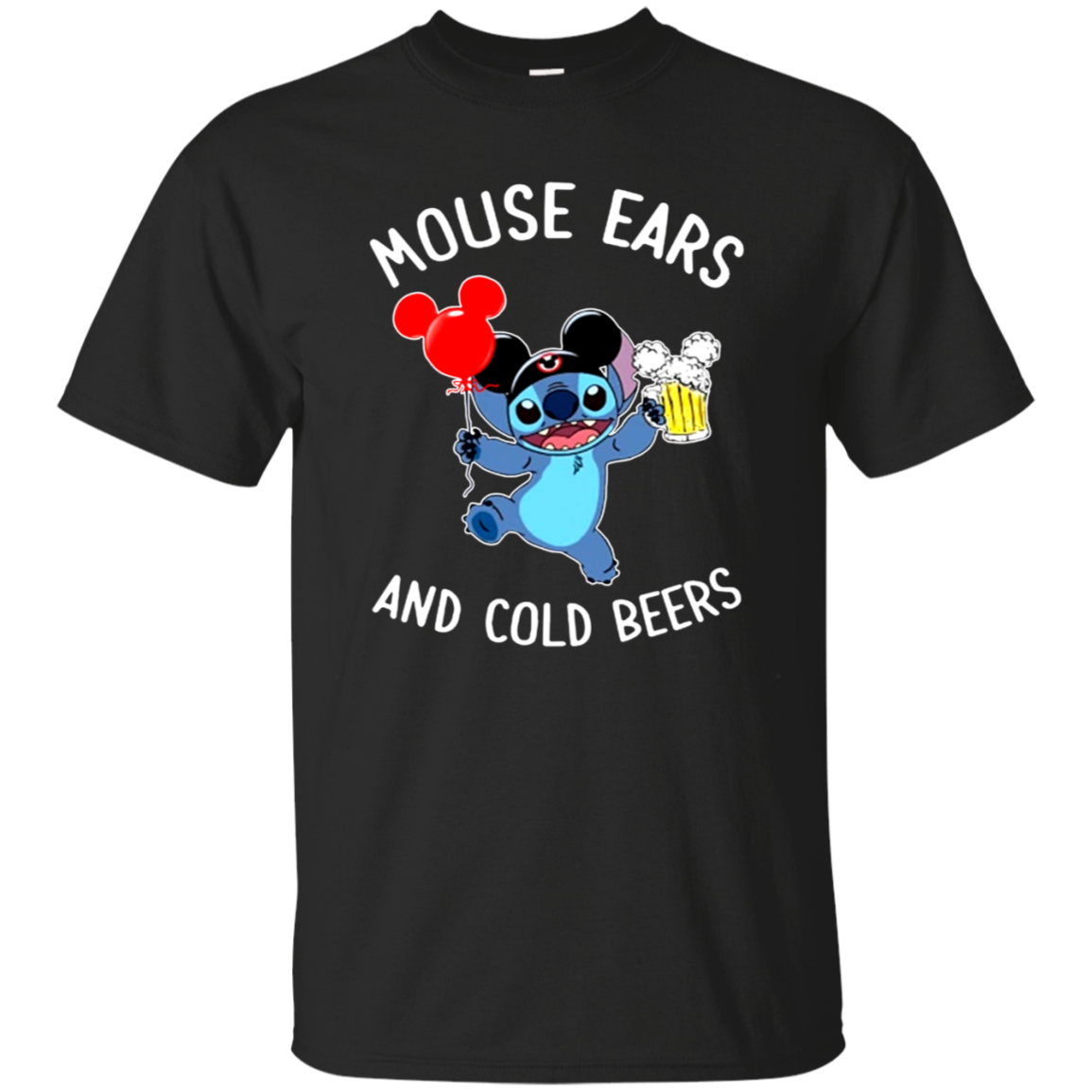 Funny Mouse ears and cold beers T-shirt Beer Lovers