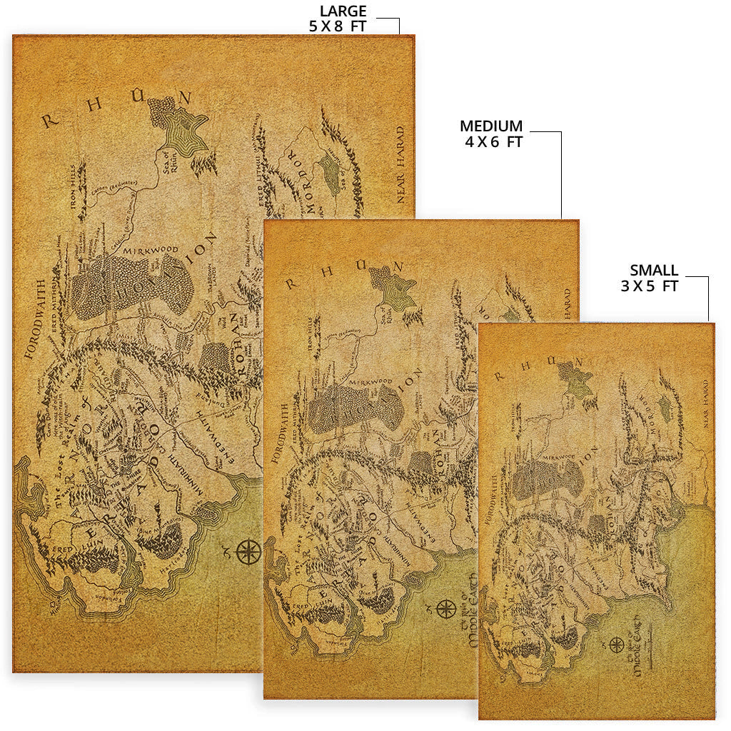 A Map of Middle-earth Area Rug