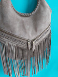 Stone Fringed Shoulder Bag - Boho Buffalo Accessories