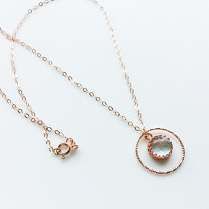 Circular Rose Gold Glass Necklace - Various - Boho Buffalo Accessories