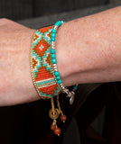 Aztec Woven Beaded Cuffs - Boho Buffalo Accessories