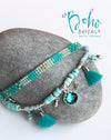 Ibiza Woven Beaded Cuff - Boho Buffalo Accessories