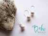 Silver Bali Ball Drop Earrings