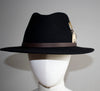 Honey Feather Black Fedora Hat - Boho Buffalo Accessories