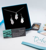 Silver Feather Jewellery Set