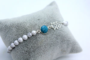 Howlite Beaded Aztec Bracelet - Boho Buffalo Accessories