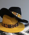 Black Aztec Band Stetson Hat - Boho Buffalo Accessories