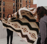 Cream/Chocolate Aztec Woven Blanket