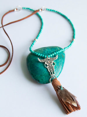 Long Buffalo Tassel Necklace
