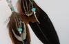 Hematite Indie Black Feather Earrings - Boho Buffalo Accessories