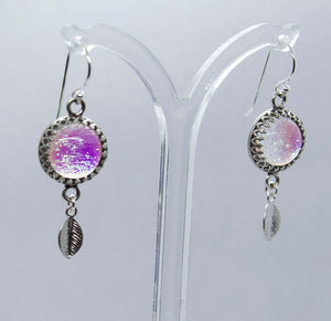 Silver Leaf Drop Earrings  - Various Colours - Boho Buffalo Accessories