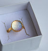 24k Gold Dichroic Glass Ring - Boho Buffalo Accessories