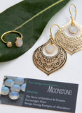Gold Gemstone Teardrop Earrings - Boho Buffalo Accessories