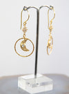 Crescent Charm Hoop Earrings