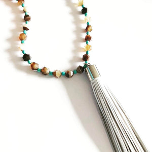Long Western Tassel Necklace - Boho Buffalo Accessories