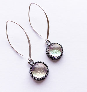 Silver Long Drop Earrings  - Various Colours - Boho Buffalo Accessories