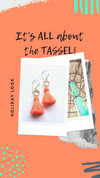 Neon Glass Tassel Earrings - Boho Buffalo Accessories