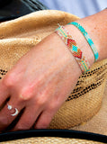 Navajo Woven Beaded Cuffs - Boho Buffalo Accessories