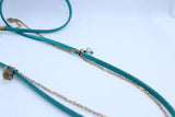 Long Turquoise Glass Tassel Necklace - Boho Buffalo Accessories