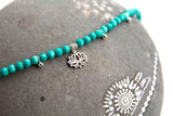 Turquoise Lotus Flower Bracelet - Boho Buffalo Accessories