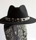 Monochrome Slim Band Black Fedora