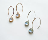 Mini Rose Gold Long Drop Earrings  - Various Colours