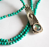 Long Turquoise Southwestern Necklace - Boho Buffalo Accessories