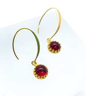 Limited Edition Red Gold Earrings - Boho Buffalo Accessories