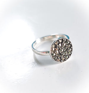Round Marcasite Ring - Boho Buffalo Accessories