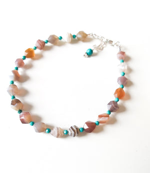 Beaded Botswana Agate Bracelet - Boho Buffalo Accessories