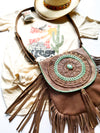 Tan Mandala Fringed Bag - Boho Buffalo Accessories