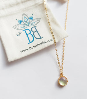 Gold Glass Necklace