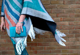 Soft Aztec Fringed Poncho - Boho Buffalo Accessories