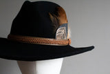 Rose Gold & Black Stetson Hat - Boho Buffalo Accessories