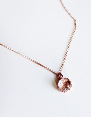 Simple Rose Gold Glass Necklace - Various