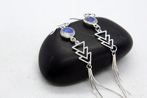 Aztec Opal Chevron Earrings - Boho Buffalo Accessories