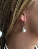 Silver Bali Ball Drop Earrings - Boho Buffalo Accessories