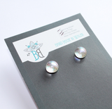 Simple Silver Glass Stud Earrings - Boho Buffalo Accessories
