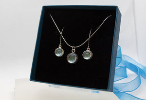 Silver Glass Jewellery Set - Boho Buffalo Accessories