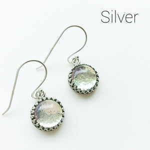 Silver Short Drop Earrings  - Various Colours