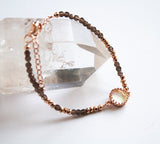 Smoky Quartz Rose Gold Bracelet