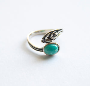 Feather Gemstone Ring