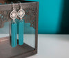 Mandala Chain Tassel Earrings - Various Colours - Boho Buffalo Accessories