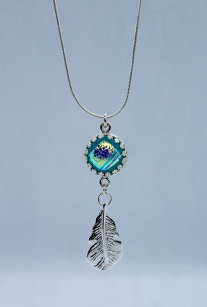 Wide Glass Feather Necklace - Various