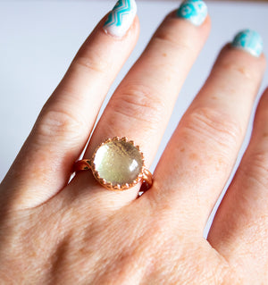 Rose Gold Dichroic Glass Ring - Boho Buffalo Accessories