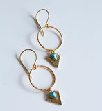 Gold Aztec Arrow Charm Earrings - Boho Buffalo Accessories