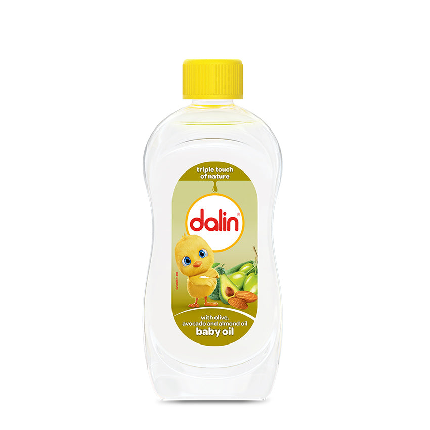 Dalin Nature's Triple Touch Baby Oil – with Olive, Avocado and Almond oils 200ml