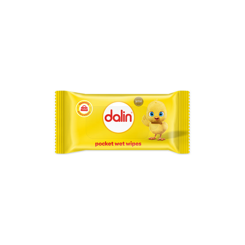 Dalin Pocket Wet Wipes 180 Wipes (12 Packs of 15 Wipes)