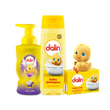 Dalin Hand Foam Soap, Strawberry 300ml - Dalin Baby Shampoo 200ml - Dalin Baby Soap 100g