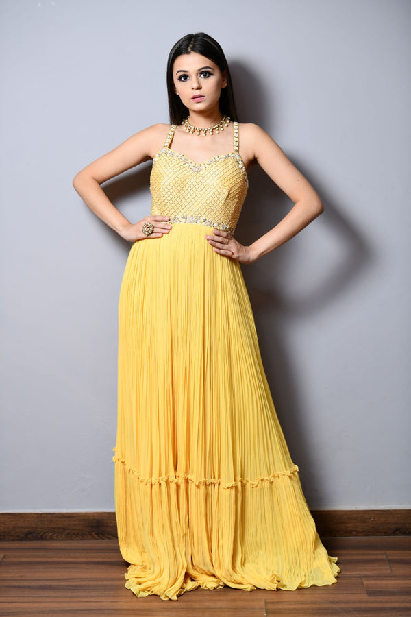 Strapy Layered Anarkali - Saisha